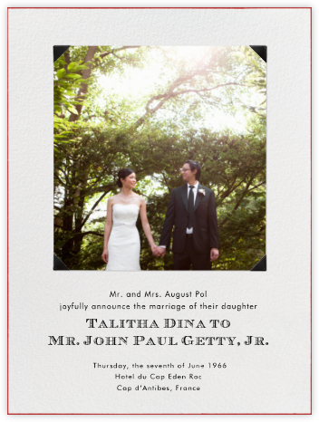Classic Photo Corners - Paperless Post - Wedding Announcements