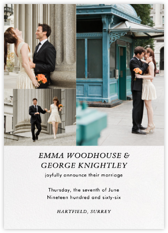 Split Screen Triad - Ivory - Paperless Post - Wedding Announcements