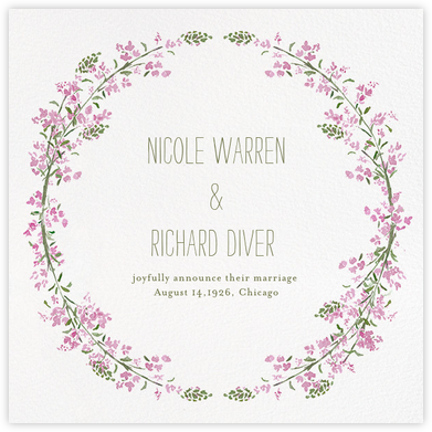 Heathers (Square) - Lilac - Paperless Post - Wedding Announcements