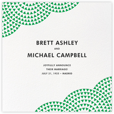 Savoy - Emerald - Paperless Post - Wedding Announcements