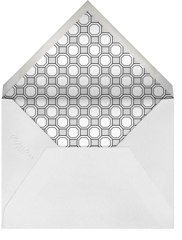 Claridge (Square) - Black - Paperless Post - Adult birthday - envelope back