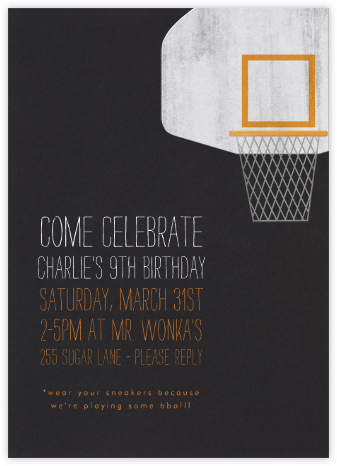 Basketball Hoop - Paperless Post - Birthday invitations