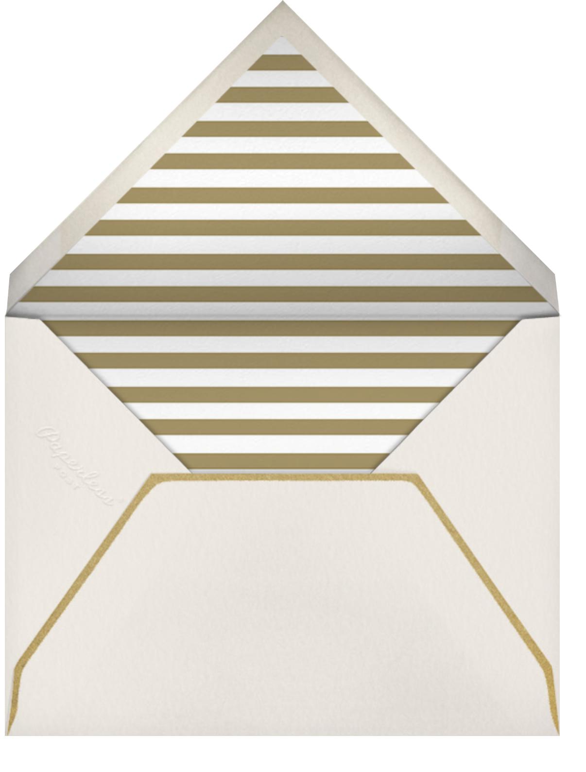 Gold Flourish - Ivory - The Indigo Bunting - All - envelope back