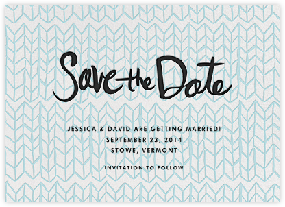 Ink Save the Date - Turquoise Pattern - Linda and Harriett -