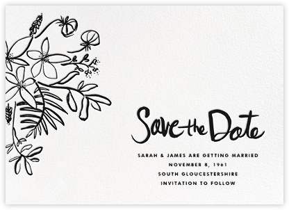 Floral Arrangement - Black - Linda and Harriett - Save the dates