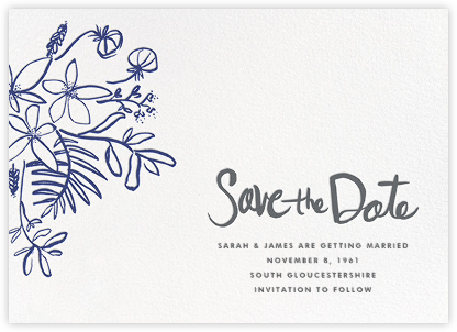 Floral Arrangement - Navy - Linda and Harriett - Save the dates