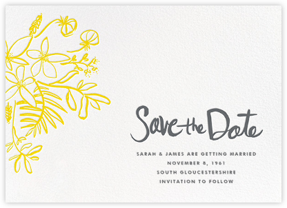 Floral Arrangement - Yellow - Linda and Harriett - Save the dates