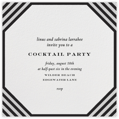Claridge (Square) - Black - Paperless Post - Dinner Party Invitations