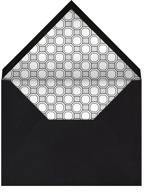 Claridge (Square) - Black - Paperless Post - Engagement party - envelope back