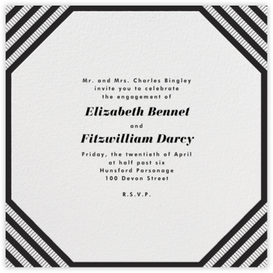 Claridge (Square) - Black - Paperless Post - Engagement party invitations