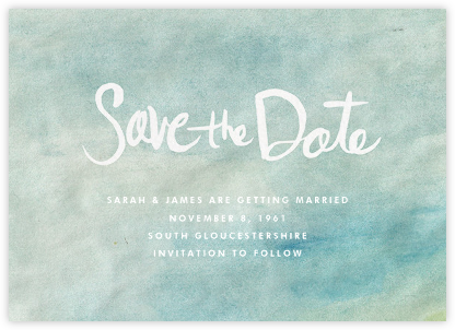 Watercolor Backdrop - Linda and Harriett - Save the date cards and templates