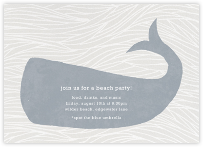 Vintage Whale - Paperless Post - Summer entertaining invitations