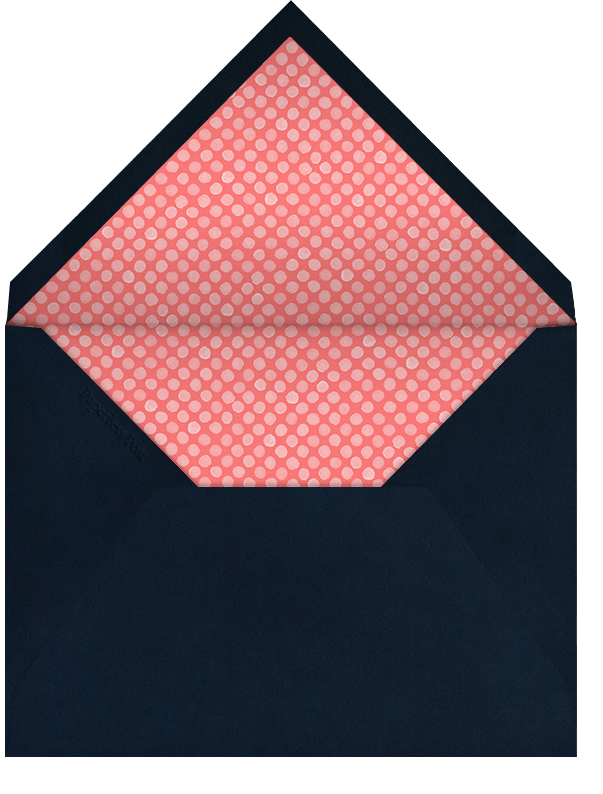 Diagonal Stripe Tall - Coral and Navy - Paperless Post - Adult birthday - envelope back