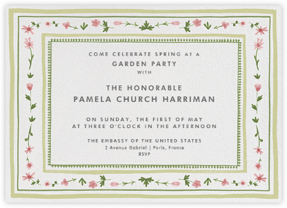 Floral Border - Paperless Post - Summer entertaining invitations