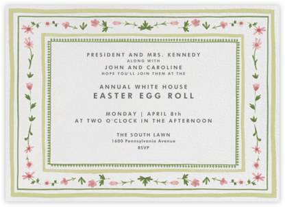 Floral Border - Paperless Post - Easter invitations