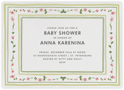 Floral Border - Paperless Post - Baby Shower Invitations