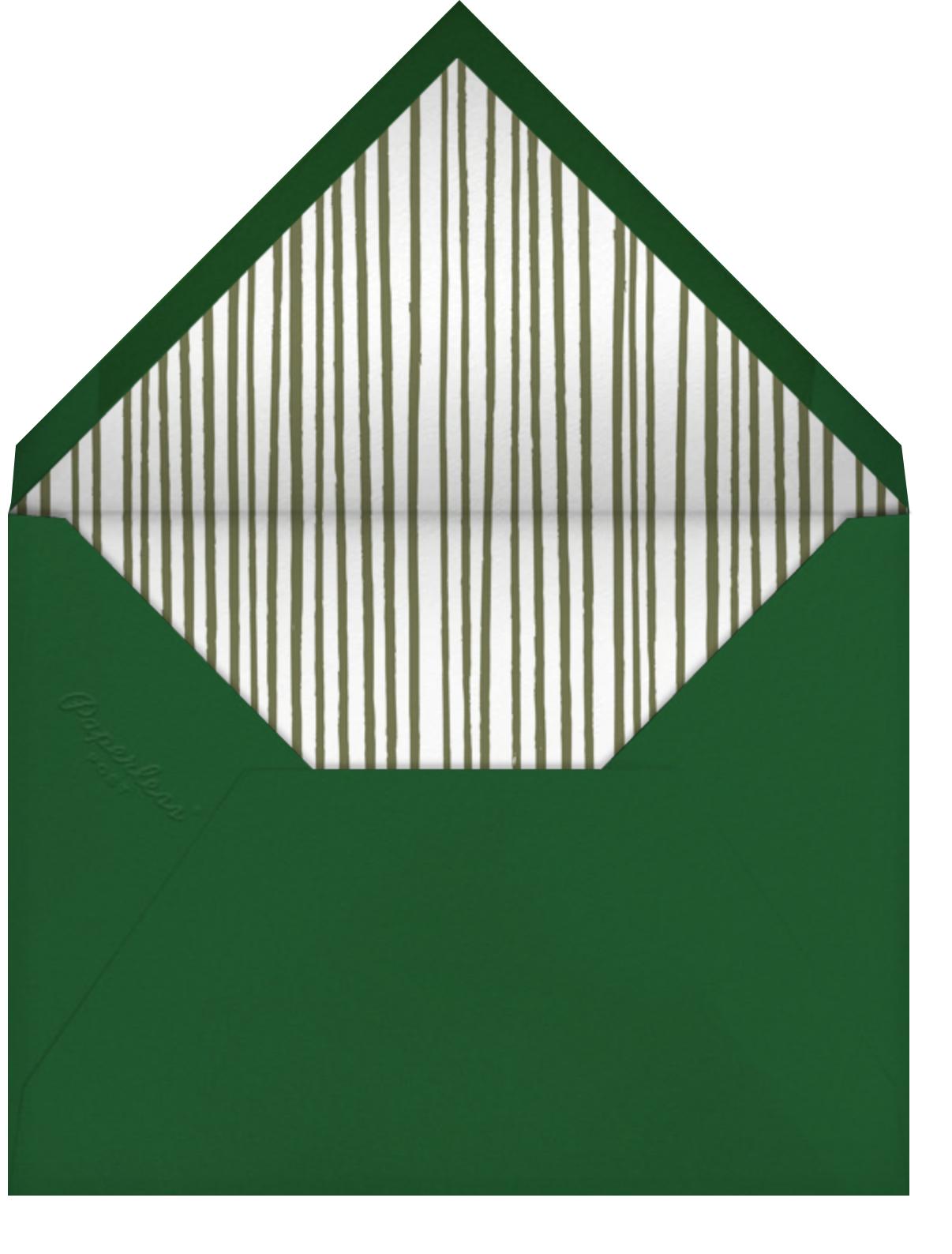 Floral Border - Paperless Post - Bridal shower - envelope back
