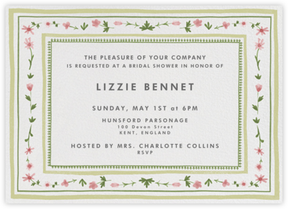 Floral Border - Paperless Post - Bridal shower invitations
