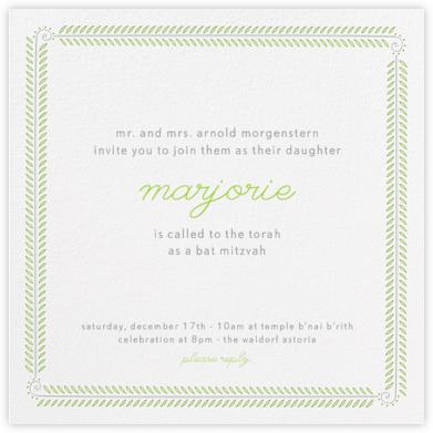 Filigree Vine - Ivory - Paperless Post - Bar and Bat Mitzvah Invitations