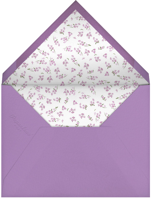 Heathers (Square) - Lilac - Paperless Post - General entertaining - envelope back