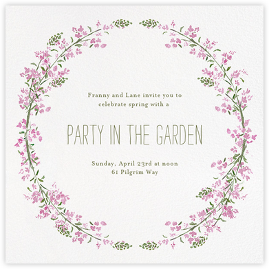Heathers (Square) - Lilac - Paperless Post - Summer entertaining invitations