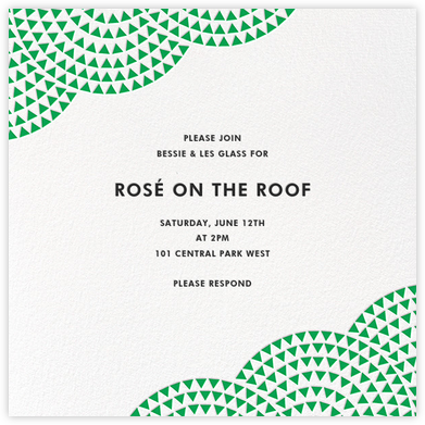 Savoy - Emerald - Paperless Post - Dinner Party Invitations