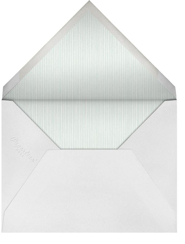 Geometric Border - Celadon - Paperless Post - Adult birthday - envelope back