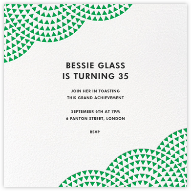 Savoy - Emerald - Paperless Post - Adult Birthday Invitations