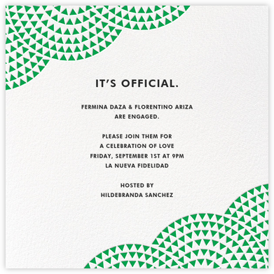 Savoy - Emerald - Paperless Post - Engagement party invitations