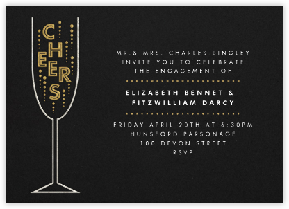 Cheers - Paperless Post - Engagement party invitations
