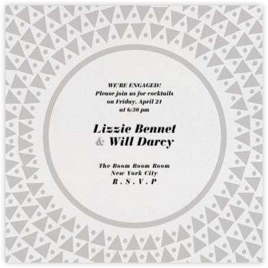 Radial Triangles - Gray - Paperless Post - Engagement party invitations