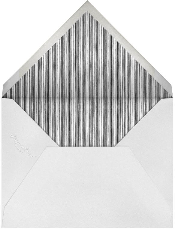 Radial Triangles - Gray - Paperless Post - Rehearsal dinner - envelope back