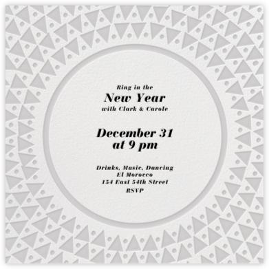 Radial Triangles - Gray - Paperless Post - New Year's Eve Invitations