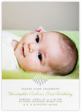 Photo Filigree - Paperless Post - First Birthday Invitations