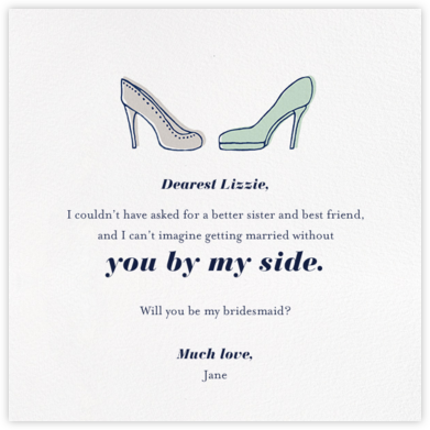 Bride and Bridesmaid - Paperless Post - Will You Be My Bridesmaid Cards