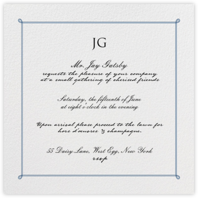 Double Loop Frame - Dark Blue - Paperless Post - Invitations