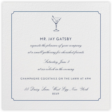 Indented Rounded Corners - Dark Blue - Paperless Post - General Entertaining Invitations