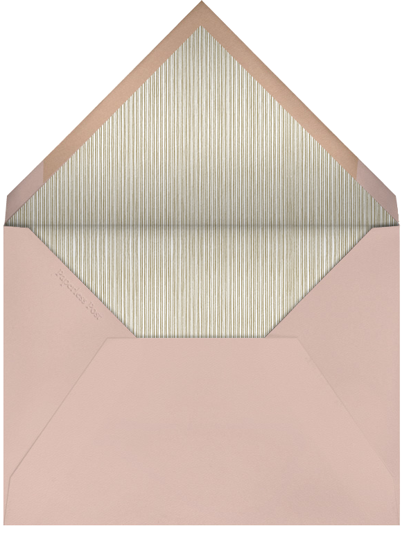 Indented Rounded Corners - Antique Pink - Paperless Post - Engagement party - envelope back