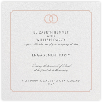 Indented Rounded Corners - Antique Pink - Paperless Post - Engagement party invitations