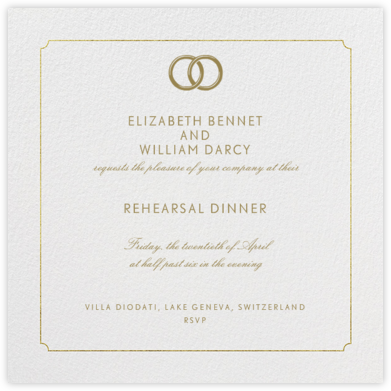 Indented Rounded Corners - Gold - Paperless Post - Wedding Weekend Invitations