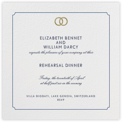 Indented Rounded Corners - Dark Blue - Paperless Post - Wedding Weekend Invitations
