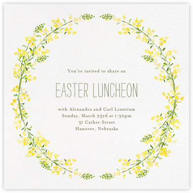 Heathers (Square) - Yellow - Paperless Post - Easter invitations