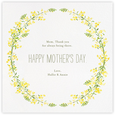 Heathers (Square) - Yellow - Paperless Post - Mother's day cards