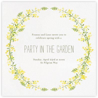 Heathers (Square) - Yellow - Paperless Post - Autumn entertaining invitations