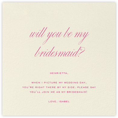 Cream (Square) - Paperless Post - Will You Be My Bridesmaid Cards