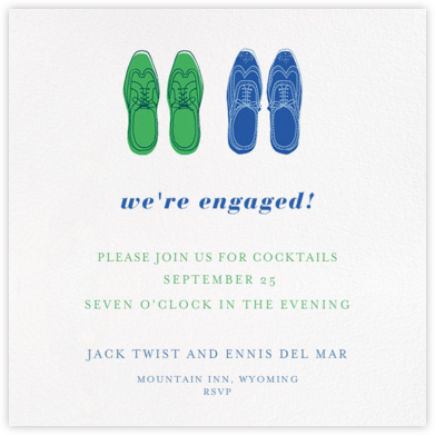 His and His - Paperless Post - Engagement party invitations