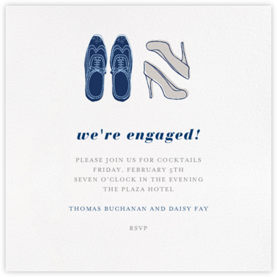 His and Hers - Navy - Paperless Post -