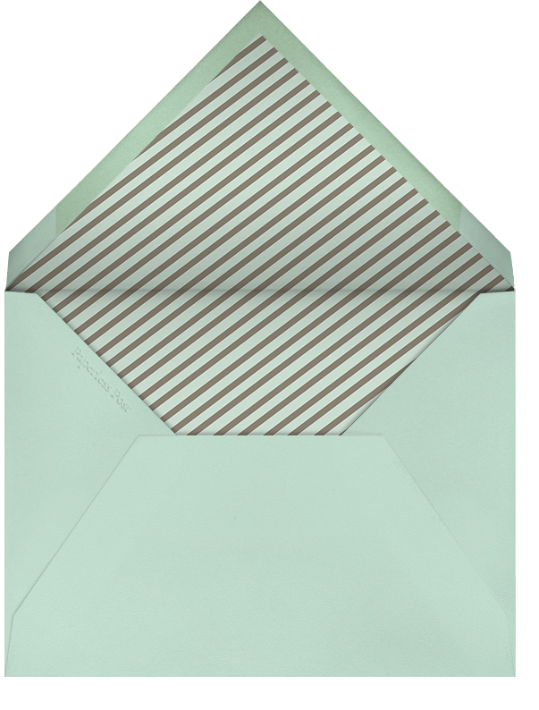 Circus Stripe - Mint and Clay - Paperless Post - Adult birthday - envelope back