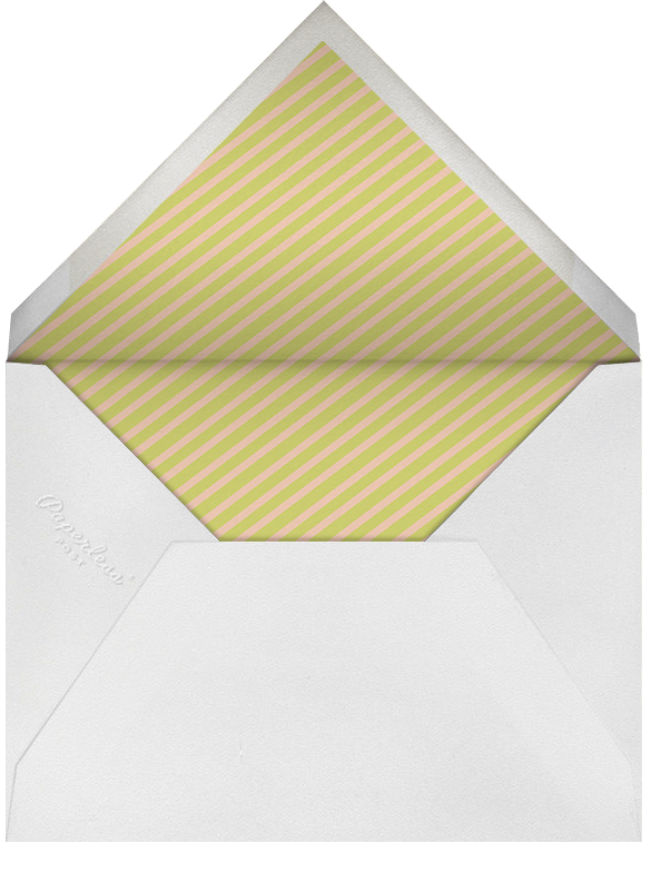 Circus Stripe - Salmon and Chartreuse - Paperless Post - Adult birthday - envelope back
