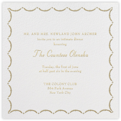 Garland - Sepia - Paperless Post - Dinner party invitations